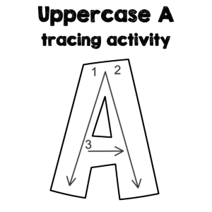 Uppercase A Tracing